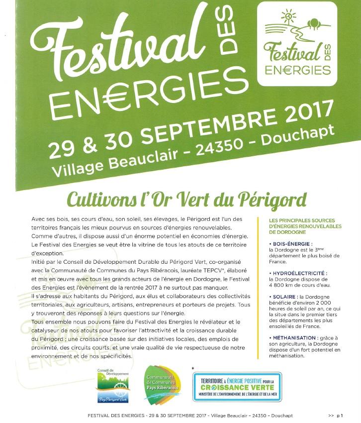 Les festival des énergies